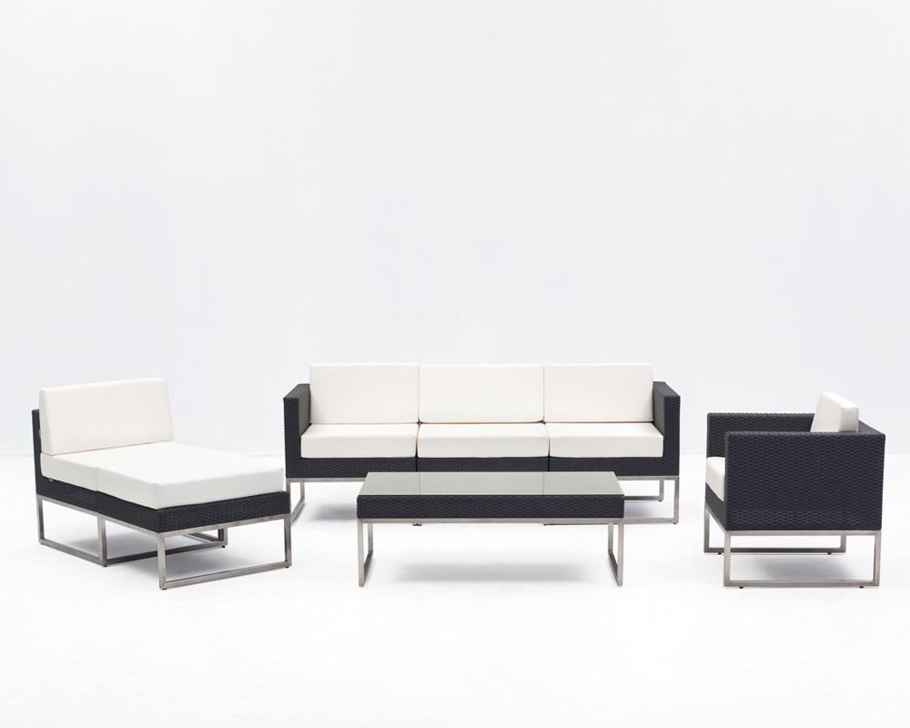 Sof intermedio milo sillas mesas hosteler a for Sofa exterior plegable